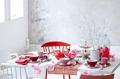Tisch 2: Pink und poppig zur Kaffeezeit