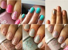 glitter nails @amorume