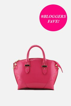 Paris Patent Bag Fuchsia