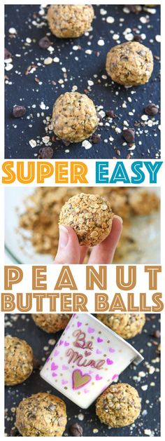Easy Peanut Butter Balls are a simple recipe to make and packed with protein! Great quick and healthy snack for back to school. via @CourtneysSweets