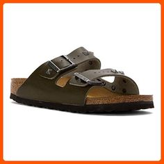 8df544c452 Birkenstock Women s Arizona Stud Sandal Olive Leather Size 36 N EU