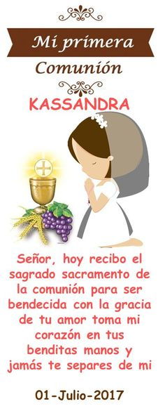 ORACIONES PRIMERA COMUNION NIÑAS Communion Centerpieces, First Communion Decorations, Communion Cakes, Baptism Gifts, First Holy Communion, Holidays And Events, Christian Quotes, Special Events, Wedding Events