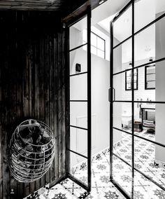 Crittall shower doors from Vallonia door shower doors screen bathroom inspiration decor Online Furniture Stores, Online Home Decor Stores, Furniture Shopping, Sauna Heater, Sauna Design, Budget Home Decorating, Home Improvement Loans, Nordic Design, Elegant Homes