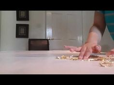 Abstract wall painting, Using Gold leaf. - YouTube