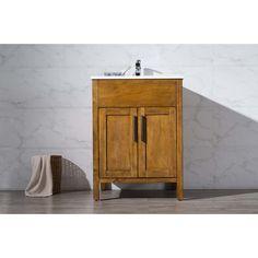 """Stufurhome Evangeline 25"""" Single Sink Bathroom Vanity Set   AllModern"""