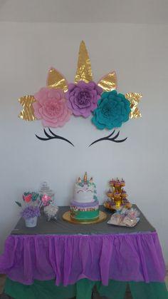 Unicornio decoración Unicorn Themed Birthday Party, My Little Pony Birthday Party, Rainbow Birthday Party, Unicorn Party, Ballon Decorations, Birthday Party Decorations, Wife Birthday, Baby Birthday, Unicorn Room Decor
