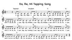 tap a do re mi, teacher - student echo use body solfege