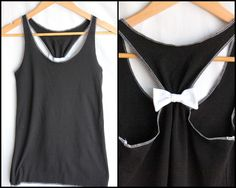 Workout Clothes Bow Racerback  - Small