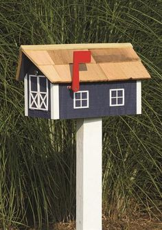 Amish Barn-Style Mailbox with Cedar Shingle Roof | Amish Mailboxes ...