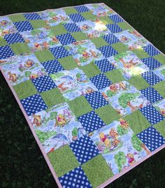 Winnie the Pooh Patchwork Quilt - Crib Size - Made to Order on Etsy, $80.00