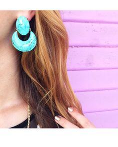 Juliette Statement Earrings in Turquoise   Kendra Scott