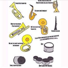 How acurate!! Especially the flute, I mean literally do you know how hard those damn notes are?!!? and no one hears us