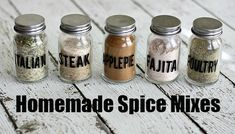 My Top 5 Homemade Spice Mixes – Skip that Trip to the Store!