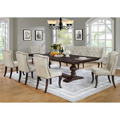 Best Quality Furniture 7 Piece Dining Set