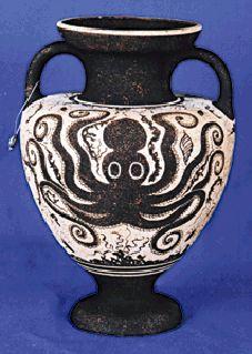 Minoan octopus vase