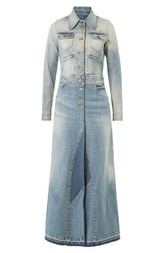 ROBERTO CAVALLI Long Denim Coat. #robertocavalli #cloth #long coat