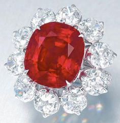 The Crimson Flame ruby ring