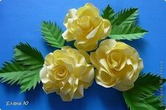 Розы из бумаги на скорую руку
