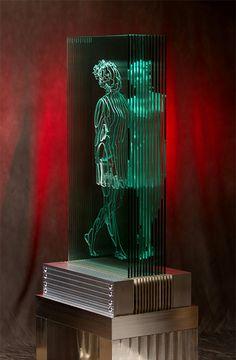Многослойные стеклянные скульптуры Jed Malitz