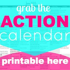 Our monthly small business ACTION calendar #printable #smbiz