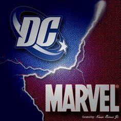 marvel heroes vs dc heroes logo