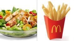 Premium Asian Salad with Grilled Chicken and Kids Fry
