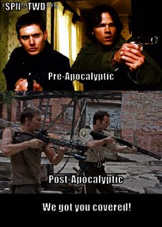 SPN TWD – Pre-Apocalyptic Post-Apocalyptic We got you covered! #Supernatural #TheWalkingDead