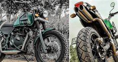 Meet Modified Royal Enfield Himalayan with Dual Underseat Exhausts Himalayan Royal Enfield, Enfield Motorcycle, Forest Green Color, Green Color Schemes, Green Bodies, Electric Scooter, Exhausted, Kerala, Meet