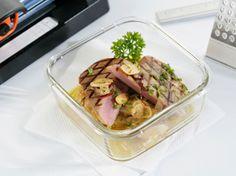 Atún encebollado, receta ideal para comer en la oficina