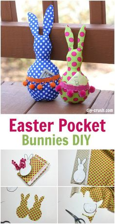 Easy sew easter bunny easter bunny easter and bunny tutorial and pattern easter pocket bunny softie negle Images