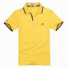ralph lauren outlet online Armani Short Sleeve Men\u0026#39;s Polo Shirt Yellow http://www
