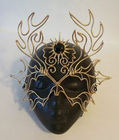 Bronze Horned God Mask by BronzeSmith on Etsy, $95.00 - the Bronzesmith makes does awesome work!