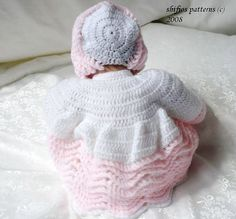 CROCHET PATTERN For Baby Jacket Pants Bonnet Booties by ShiFio