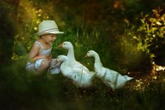 Image discovered by Find images and videos about nature, animals and geese on We Heart It - the app to get lost in what you love. Country Life, Country Girls, Country Living, Country Farm, Pond Life, Lily Pond, Down On The Farm, Happy Kids, Beautiful Children