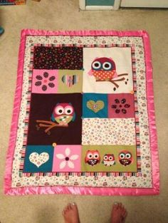 Sweet baby owl quilt by nadine