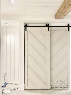 Bypass Barn Door, Diy Sliding Barn Door, Diy Barn Door, Diy Door, Home Improvement Projects, Home Projects, Making Barn Doors, Closet Door Makeover, Barn Door Closet