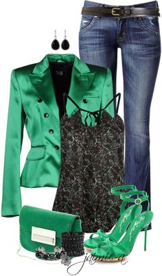 """""""Emerald Green 2"""" by jaimie-a on Polyvore"""
