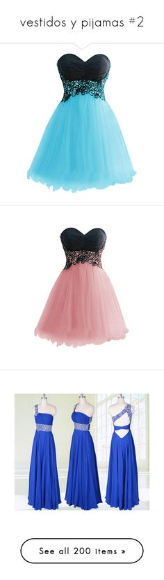"""vestidos y pijamas #2"" by luciabelen-26 ❤ liked on Polyvore featuring dresses, short dresses, vestidos, blue, blue lace dress, mini dress, short prom dresses, lace cocktail dress, lace prom dresses and prom dresses"