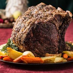 Nothing says Christmas quite like a standing beef rib roast. For starters,                   it's got good bones. And those bones give it stature—there's nothing                   petite about this hunk of beef—so it is a commanding presence on your                   holiday table. That other holiday favorite, beef tenderloin, can't begin to                   compare in brawn or beefiness.                  The rib meat has the most marbling in the steer, and it's that marbling that…