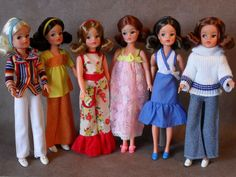 My Vintage Sindy Dolls & Outfits From 1974 - From my own collection: Vintage Girls, Vintage Barbie, Vintage Toys, 1970s Dolls, Old Dolls, 1974 Fashion, Fashion Dolls, Sindy Doll, Blythe Dolls