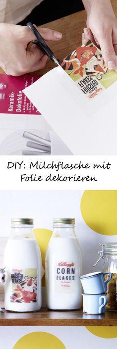 Einfache Milchflaschen verpassen wir ganz einfach einen individuellen Touch! ZUR ANLEITUNG >>>