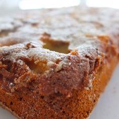 Coffee cake de cambur y manzanas/banana apple coffee cake
