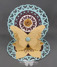 addINKtive designs: Circle Butterfly Easel Card