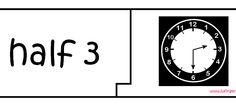 Laat de leerlingen puzzelen met de gekende kloktijden. Deze link gaat naar de puzzels met halve uur tijden, maar je kan ook doorklikken naar de hele uren. Er is een versie met de analoge en de digitale klok.
