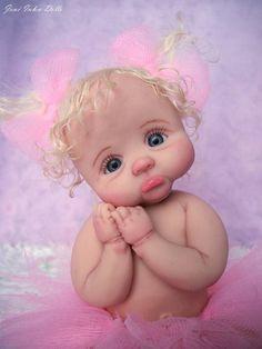 Details about ooak hand made mini crib infant baby artist art doll slicone elizabeth Cute Baby Dolls, Reborn Baby Dolls, Cute Babies, Baby Fairy, Clay Baby, Polymer Clay Dolls, Tiny Dolls, Fairy Art, Miniature Dolls