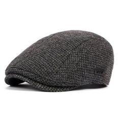 96640dfa7a563 Boina plana ajustable de algodón para hombres Boinas
