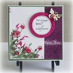 Colour My Hearts: Rubbernecker Stamps - Wildflowers in the Wind