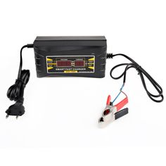 High Quality 12V Fast Smart Auto Battery Charger With Battery Repair Full Automatic Car Intelligent Pulse EU Plug Free Shipping