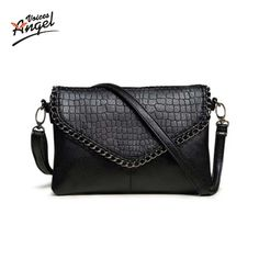 Cheap Shoulder Bags, Buy Directly from China Suppliers:Fashion Small Bag Women Messenger Bags Soft PU Leather Handbags Crossbody Bag For Women Clutches Bolsas Femininas Dollar Price Small Shoulder Bag, Leather Shoulder Bag, Shoulder Purse, Crocodile, Black Crossbody Purse, Crossbody Bags, Black Clutch, Clutch Purse, Tote Bag