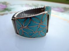 Vintage Old Pawn Silver Turquoise watch tips by Holliezhobbiez, $38.50